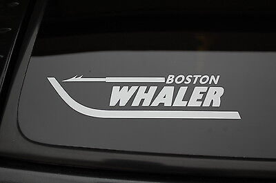 Boston Whaler Sticker Vinyl Decal  CHOOSE SIZE & COLOR! Fishing Boat Window V162
