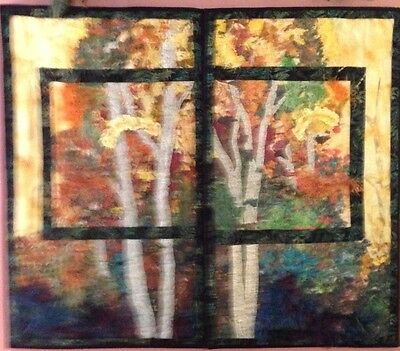 QUILTS - Wall hangings (2) featuring beautiful display of natures colors!