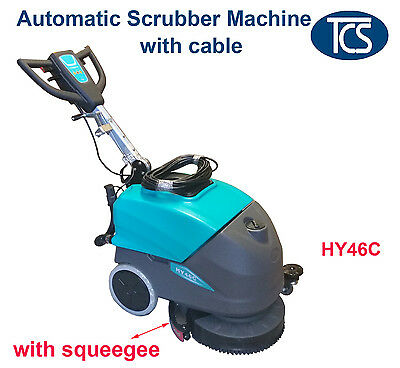 Commercial Powered Auto floor Scrubber Machine with Cable & Squeegee Drier