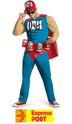 Adult Duffman The Simpsons Duff Man Beer Muscle Superhero Costume Oktoberfest