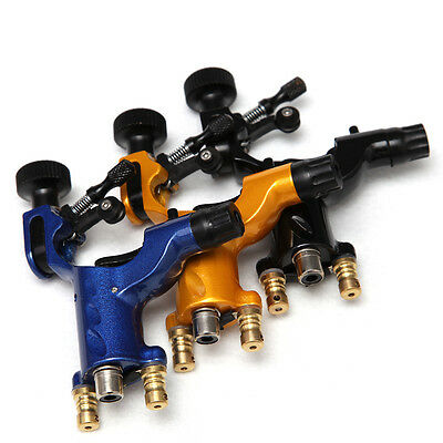 3pc rotary tattoo machine gun kit alloy frame both RCA/Clip jack dragonfly style