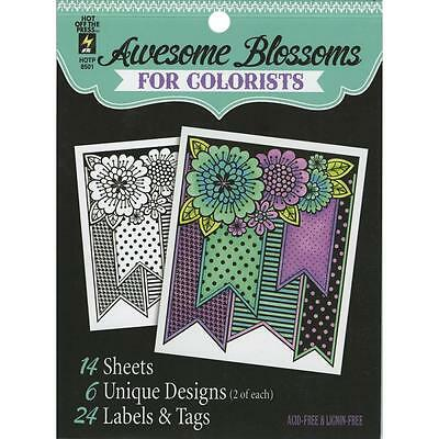 Awesome Blossoms for Colorists Acid & Lignin Free Hot off the Press  8501