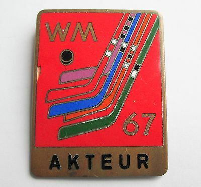 34th ICE HOCKEY WORLD CUP CHAMPIONSHIP 1967 ATHLETE BADGE FINAL GROUP C AUSTRIA