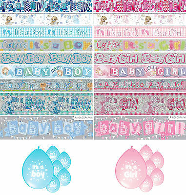 New Baby Banners Boy & Girl Party Decorations