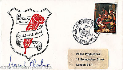 1968 Cheshire Homes Cover - Signed by LEONARD CHESHIRE VC