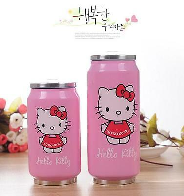Cartoon Stainless Steel Vacuum Thermos Cup Drink Cans Kids Bottle With Straw New