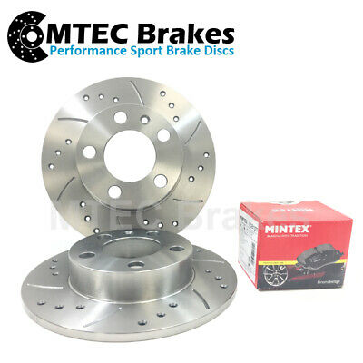 Ford Mondeo 2007-2012 mk4 Rear Brake Discs Drilled & Grooved With Mintex Pads