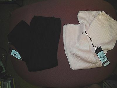 "NWT Bloch LEGWARMERS GIRLS 18""  Black or Light Pink Supersoft Yarn rib 2x2"