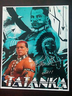 Leaf Wrestling WWE WWF Autograph 8x10 Photo Tatanka