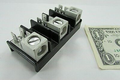 New Elec-Tron ERB-50 3-Pole 1/0 Lug 1/4 Spade Power Distribution Terminal Blocks