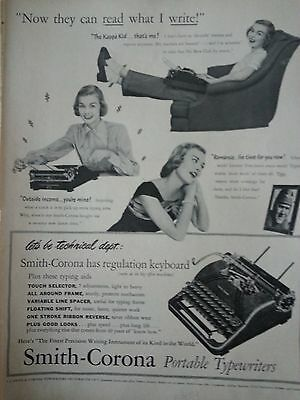 1948 Vintage Smith Corona Typewriter Kappa Kid Technical Department Original Ad