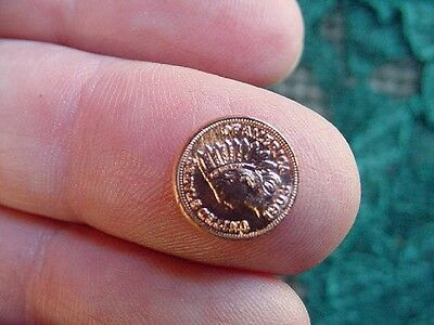 (MD-100) Miniature Indian head penny 19th century mini  token minted COIN