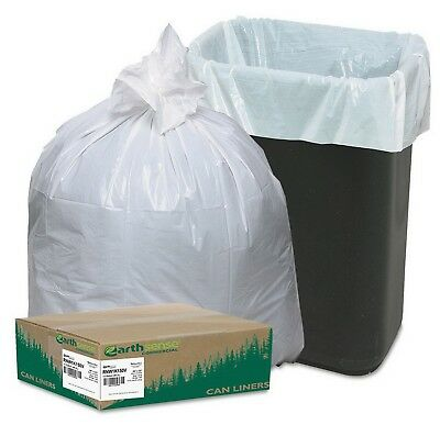 150 Recycled Tall Kitchen Trash Bags 13 Gallon Commercial Garbage Liner
