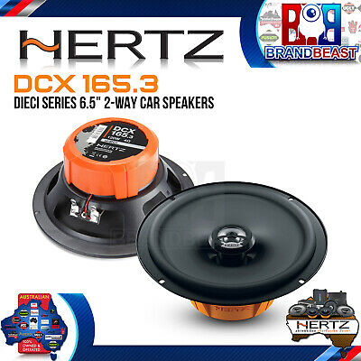 "Hertz Dieci Dcx165 6.5"" 2 Way Car Audio Stereo Coaxial Coax Speakers Euro Design"