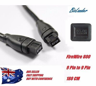 Bizlander®  Firewire 1394B 800 IEEE 9 Pin Male to 9 Pin Male Cable 1.8M NEW BKE