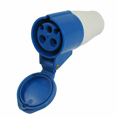 16A Splash Proof IP44 2P + E IEC309-2 Industrial Free Hanging Socket Blue White