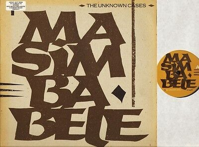 """THE UNKNOWN CASES masimba bele OC 04 T german rough trade 1983 12"""" PS EX/EX"""