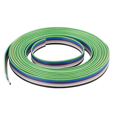 10ft 6 Way Flexible Flat Ribbon Cable IDC Wire 1.27mm Pitch