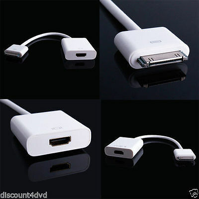 Dock Connector to HDMI Cable Converter Adapter 1080P TV for iPad 2/3 iPhone 4/S