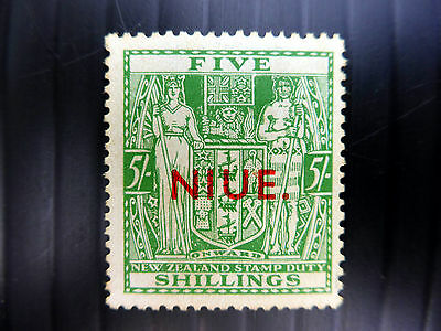 NIUE 5/- RARE SG80 Mounted Mint Some Gum Toning NEW LOWER PRICE FP4180