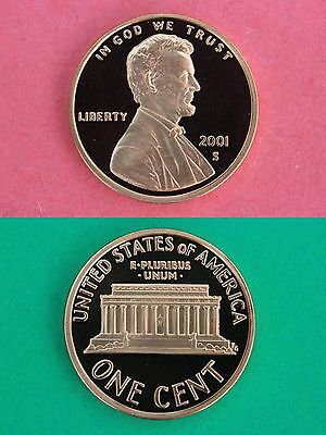 2001 S Deep Cameo Proof Lincoln Memorial Cent Combined Shipping