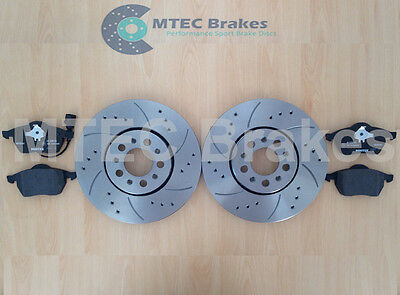 AUDI A3 1.9 TDi 8L 1996-2003 FRONT DRILLED GROOVED BRAKE DISCS 280mm