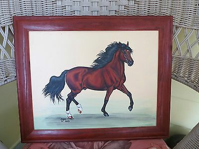 Bay Paso Fino Horse Framed Painting