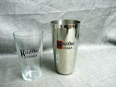 New Ketel One Vodka Metal Shaker with Glass