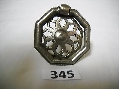 Antique Silver Single Screw Ring Drawer Pull