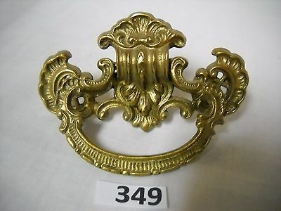 Antique Cast Brass Single Screw Drawer Ring Pull