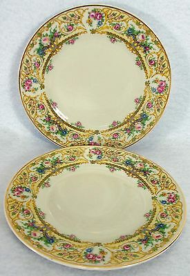 SYRACUSE china ROSE MARIE pattern Bread Plate - Set of Two (2) @ 6-1/4""