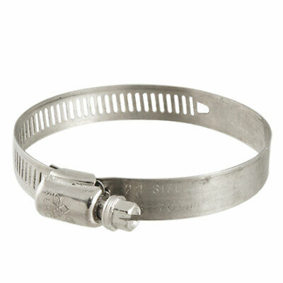 2Pcs 46-70mm Stainless Steel Worm Drive Hose Pipe Clamp