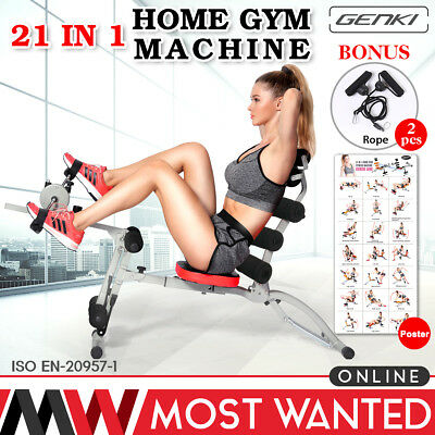 Wonder Total Body Smart Leg Exercise Core Ab Trainer Workout Gym Bench Crunch