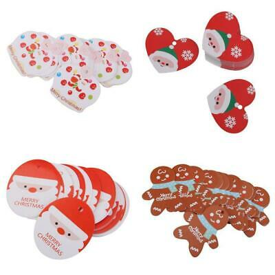 50± MERRY CHRISTMAS Wedding Party Paper Favor Gift Card Scallop Label Blank Tags