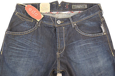 Neu! Edc By Esprit Jeans Used-Jeans Herren Relaxed Fit