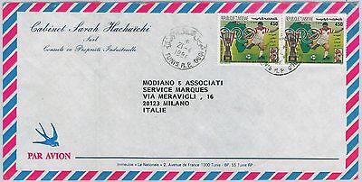 OLYMPIC GAMES  Football -  TUNISIA - POSTAL HISTORY -  Cover to ITALY 1994