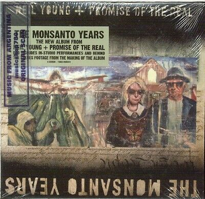 Cd + Dvd Set Neil Young + Promise Of The Real The Monsanto Years Sealed New 2015