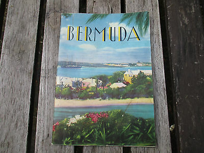 Vintage 1930s Art Deco Bermuda Travel Brochure + Fold out map