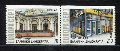s2438) GREECE 1990 MNH** Nuovi** Europa, post offices 2v coil