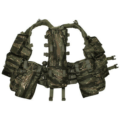 Tactical Patrol South African Assault Army Combat Vest Airsoft Tiger Stripe Camo