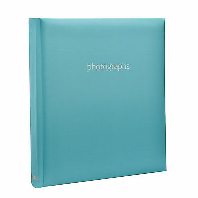 Large Blue 5 x 7 Slip In Case Bookbound Memo Photo Album For 120 Holds - AL-9143