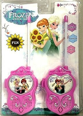 New Simulated Phone Walkie Talkie Disney Frozen Elsa Figures Telephone Toys Kids