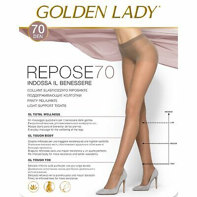 Collant Riposante Golden Lady Repose 70 Den. 5 Paia Velato Effetto Defaticante