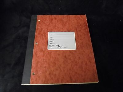 National Brand Laboratory Research Notebook 11x9.5