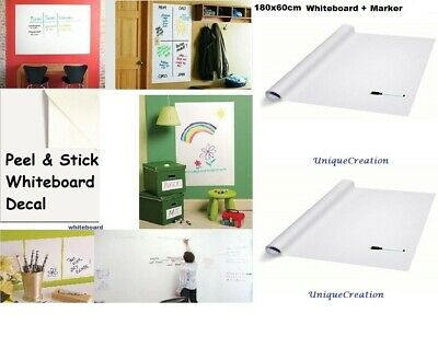 Whiteboard Removable Vinyl Sticker white board Sheet Dry erase Decal 180 x 45cm