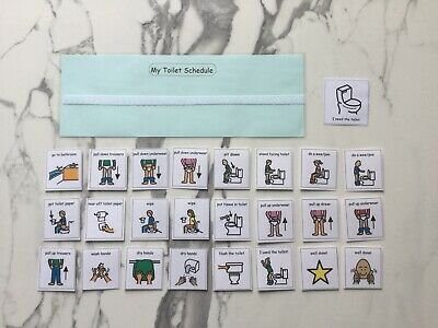 PECS/Boardmaker Toilet schedule & cards for autism/ADHD/ASD/visual learning