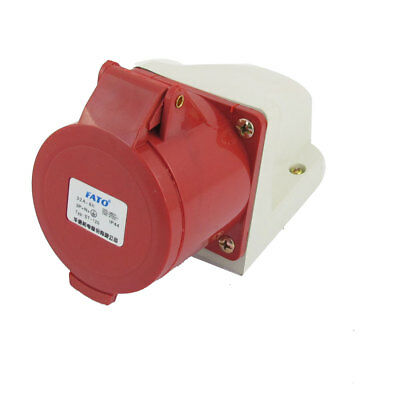 Plastic Shell ST-114 380V-415V 5 Pin Plug 16A Wall Mounted Industrial Socket