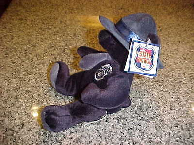 "Wisconsin State Patrol Plush Trooper Toy Bear 8"" New"
