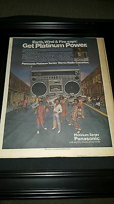 Earth, Wind, and Fire Rare Original Panasonic Promo Poster Ad Framed!