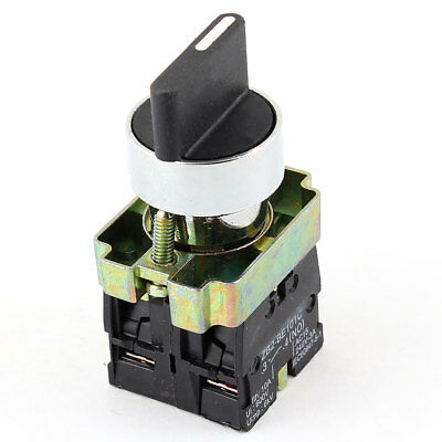 Rotary Selector DPST NO NC 2 Position Latching Switch AC 660V 10A